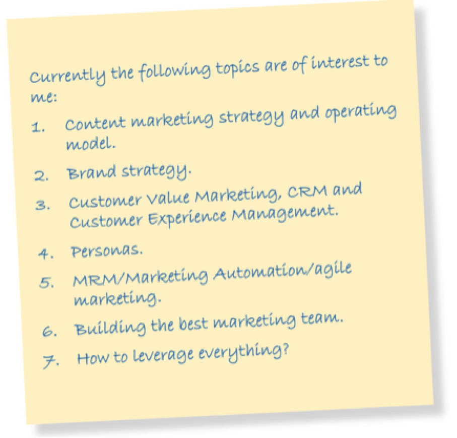 CMO main challenges